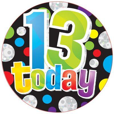 Jumbo Dots 13 Today Badge