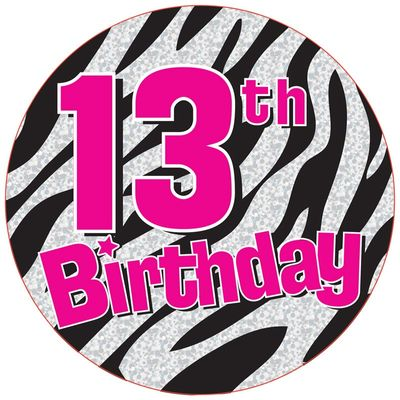Celebrate your loved ones 11th birthday with this multi dots and cake candles themed birthday badge.  This brightly coloured badge will be sure to catch the eye of your birthday boy or girl.  Sold individually.