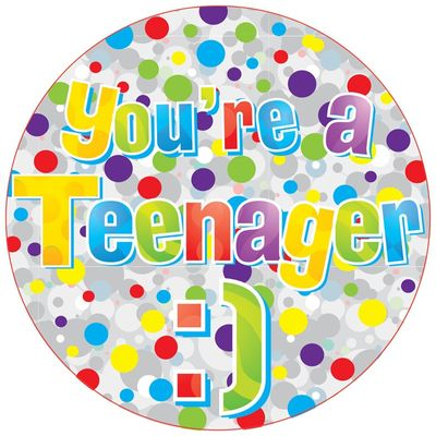Jumbo Teenage Birthday Badge