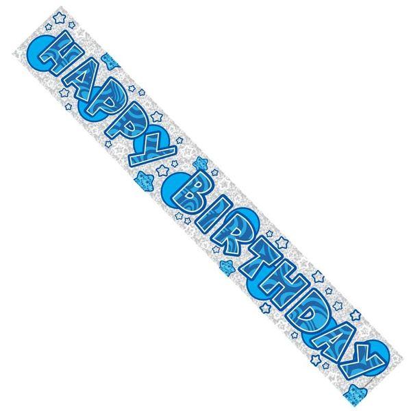 Happy Birthday Blue Spots Banner