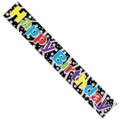 Multi Coloured Happy Birthday Banner