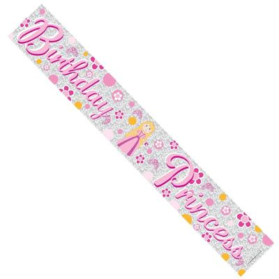 Princess Happy Birthday Banner