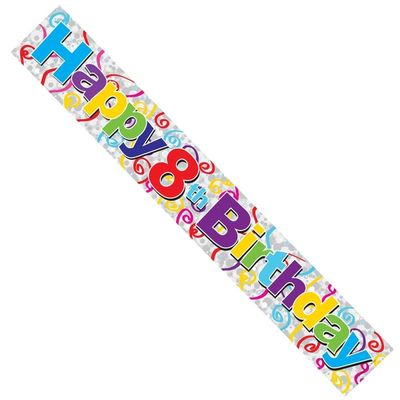 Happy 8th Birthday Banner