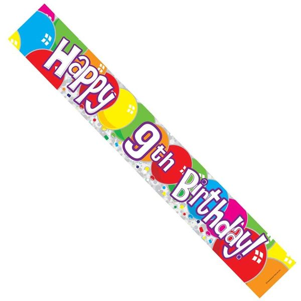 Happy 9th Birthday Banner