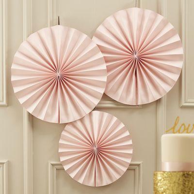 Pink Fan Decoration