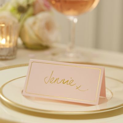 Pink & Gold Place Cards