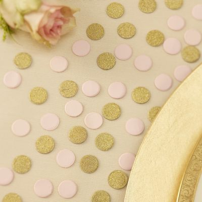 Pink and Gold Table Dots