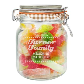 Personalised Hearts Jar