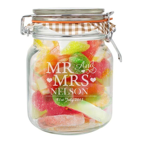 Personalised Mr and Mrs Jar