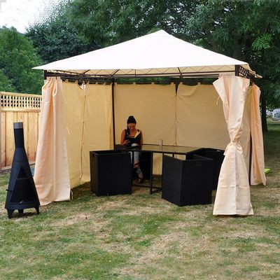 Kingfisher Heavy Duty Gazebo - With Curtains