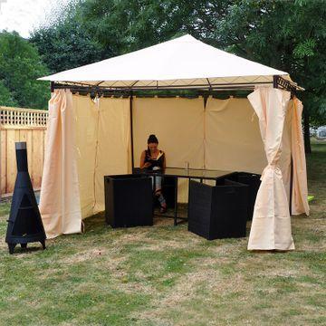 Kingfisher Heavy Duty Gazebo - With Curtains