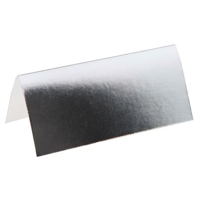 Metallic Silver Placecard