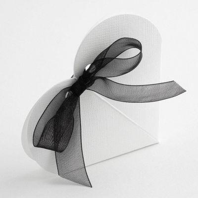 White Heart Favour Box