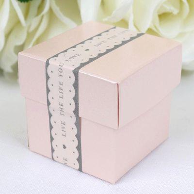 Pale Pink Favour Box