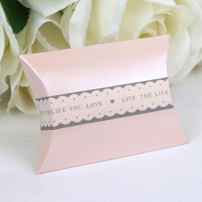 Pale Pink Pillow Favour Box