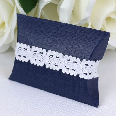 Navy Pillow Favour Box