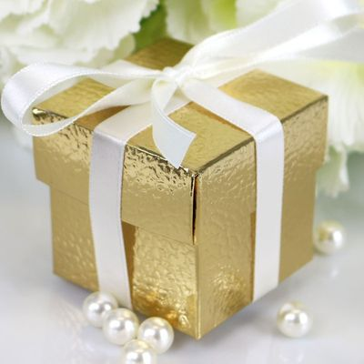 Metallic Gold Favour Box