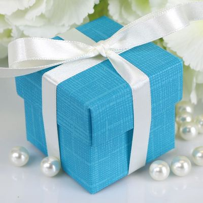 Dark Turquoise Square Favour Box & Lid