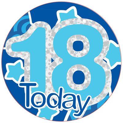 Male 18th Birthday Badge