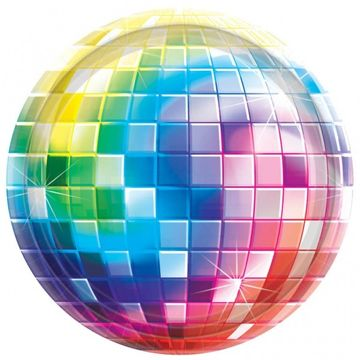 70s Disco Fever Party Plate