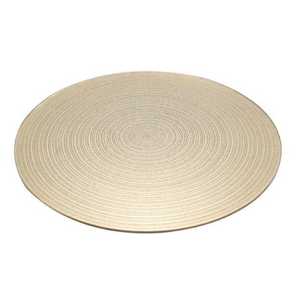 Gold Swirl Mirror Plate