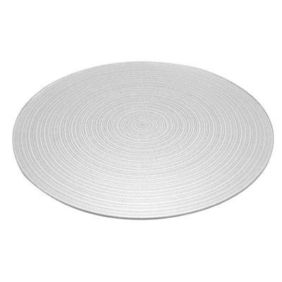 Silver Swirl Mirror Plate