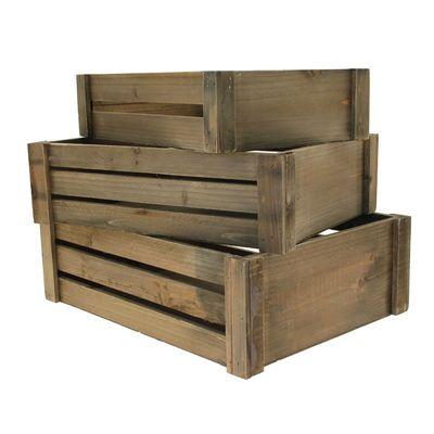 Brown Stain Wooden Crates