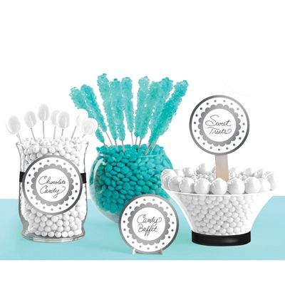 Silver and White Candy Bar Kit