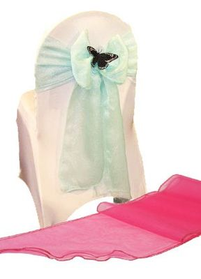 Hot Pink Chair Sash with chair (S28290/SA0005)