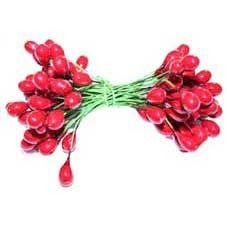 Double Ended Red Berries on Green Wire