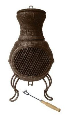 Gardeco Billie Small Cast Iron Chimenea - Black CASTCHI8-BL