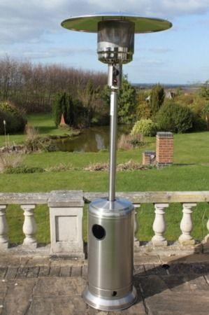 Great Gardens Online Stainless Steel patio heater.