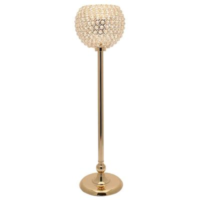 75cm Gold Globe Candle Holder