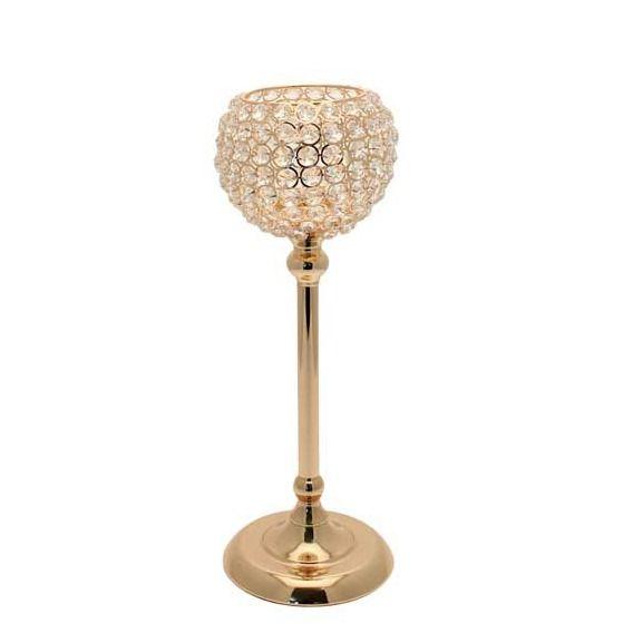 43cm Gold Globe Candle Holder