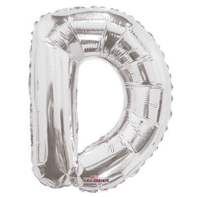 "14"" Silver Letter D Balloon"