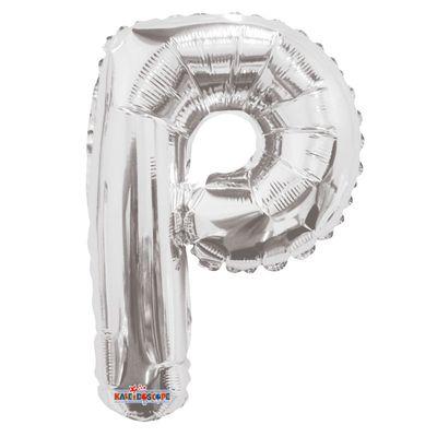 "14"" Silver Letter P Balloon"