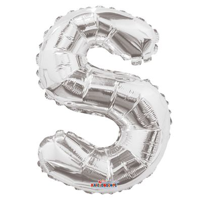 """14"""" Silver Letter S Balloon"""
