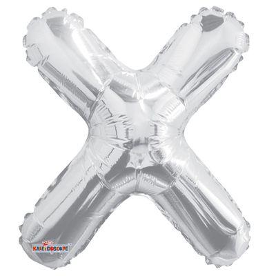 "14"" Silver Letter X Balloon"