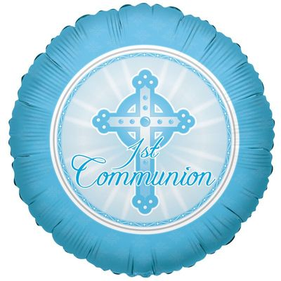 Light Blue 1st Holy Communion Balloon