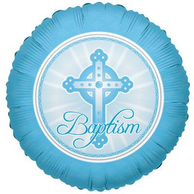 Light Blue Baptism Balloon