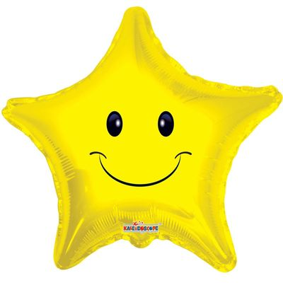 "18"" Smiley Face Star Balloon"