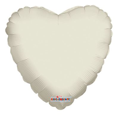 "18"" Ivory Heart Balloon"