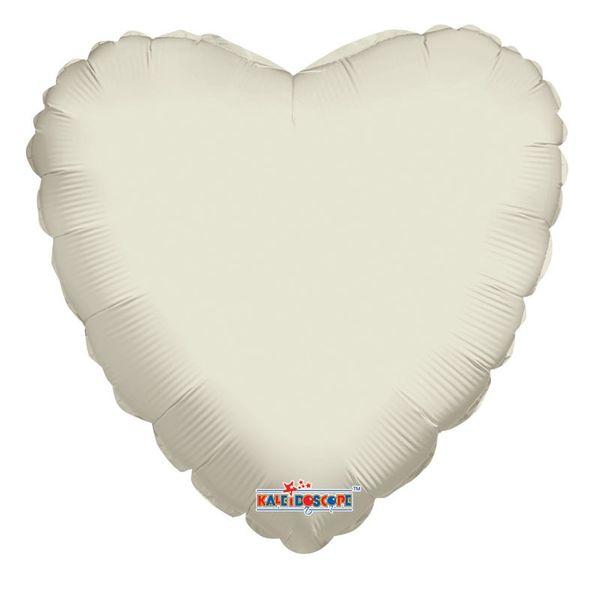 """18"""" Ivory Heart Balloon"""