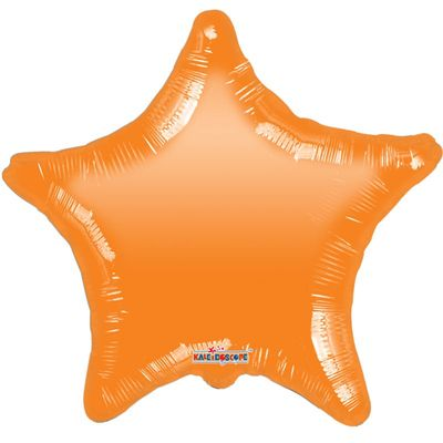 "18"" Orange Star Gellibean Balloon"