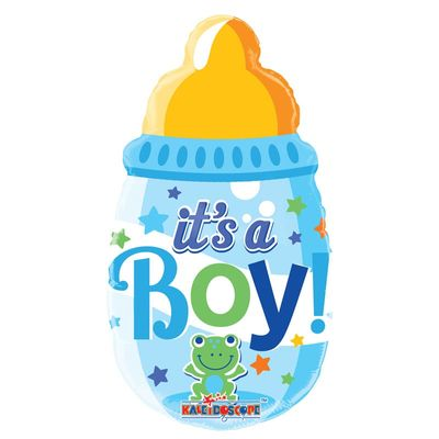 "14""  Baby Boys Bottle Balloon"