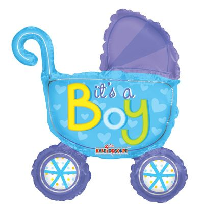 "14"" Baby Boy Stroller Balloon"