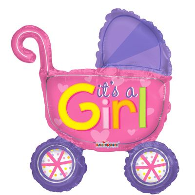"14"" Girls Stroller Balloon"