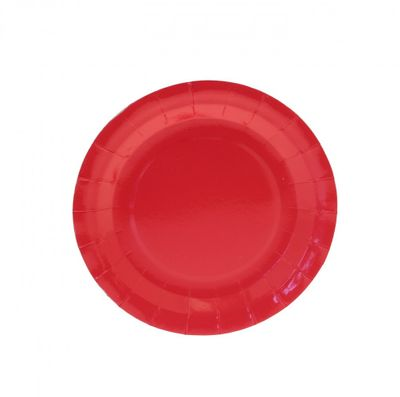 7inch Red Party Plates