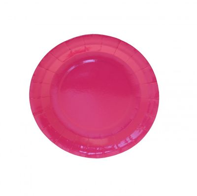7 Inch Hot Pink Party Plates