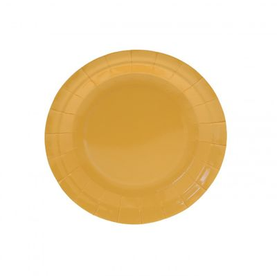 7 Inch Yellow Party Plates
